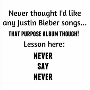 Legit Suddenly there are songs from Purpose all up inhellip