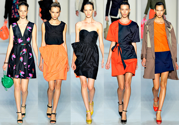 Several, possibly all pieces from the Marc Jacobs Spring 2012 collection were swiped! Photo from Style.com