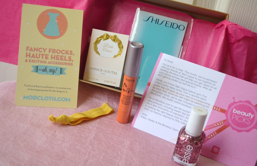 Birchbox March 2012 Teen Vogue Beauty Picks