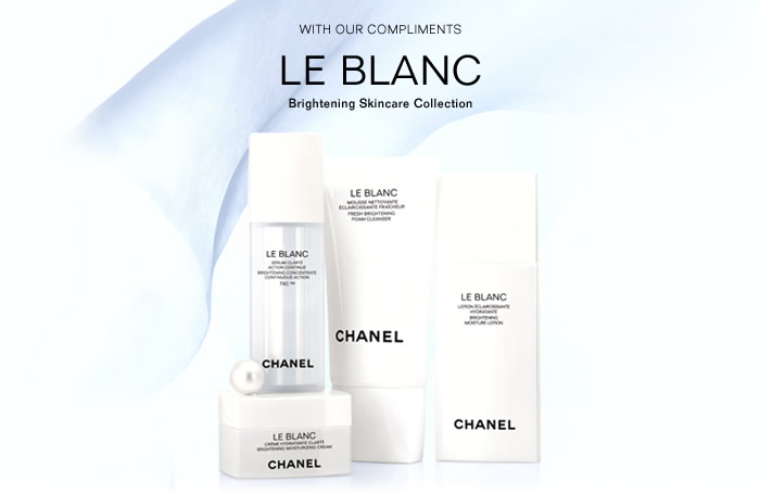 Chanel Le Blanc Brightening Skincare Collection