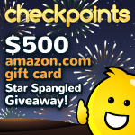 $500 Amazon Gift Card Giveaway by CheckPoints