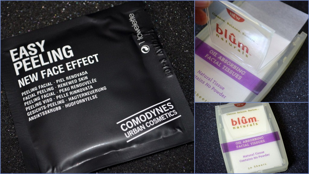 Comodynes Easy Peeling Face Towelettes & Blum Naturals Oil Absorbing Facial Tissues