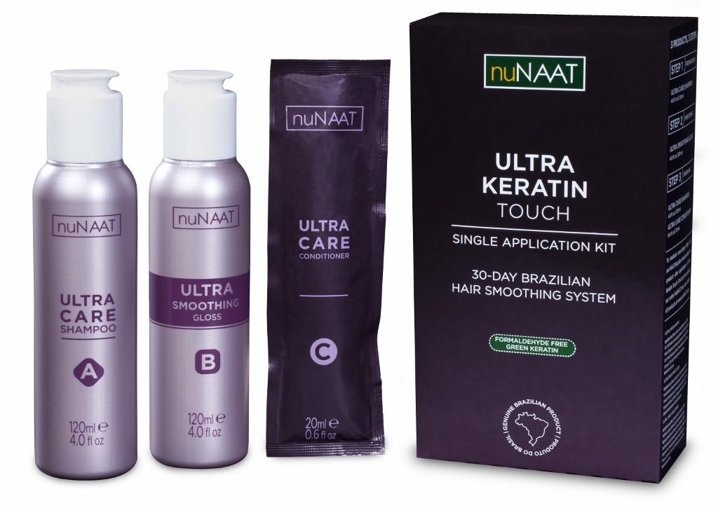 nuNAAT Ultra Keratin Touch 30 Day Brazilian Hair Smoothing System