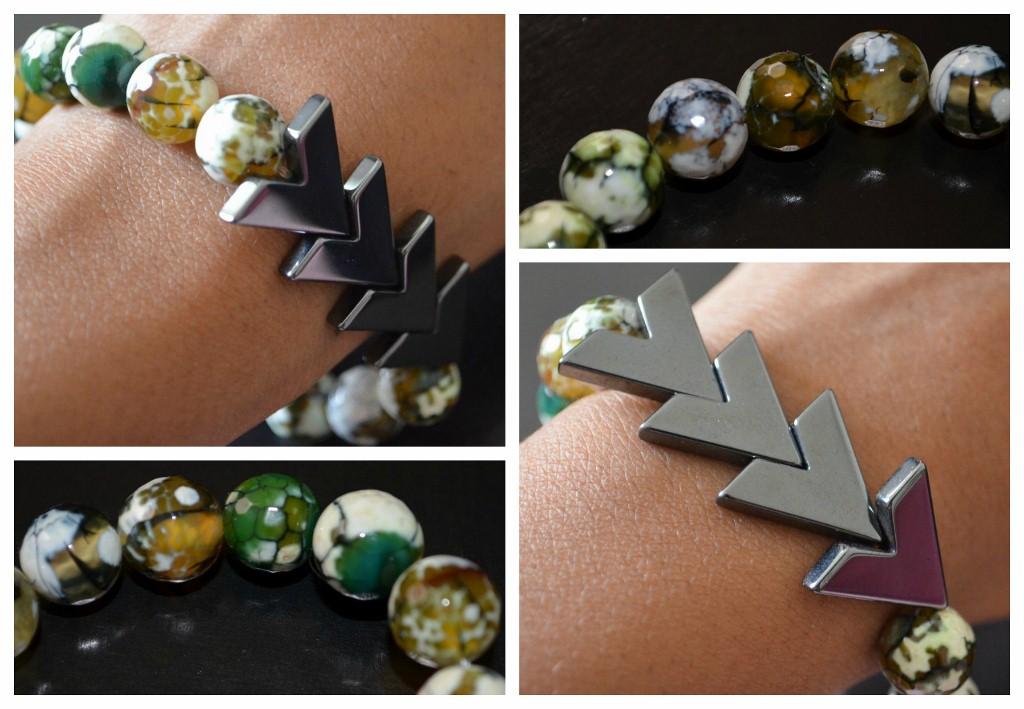 Black Dagger - Stretch Bracelet by Eclectic Star