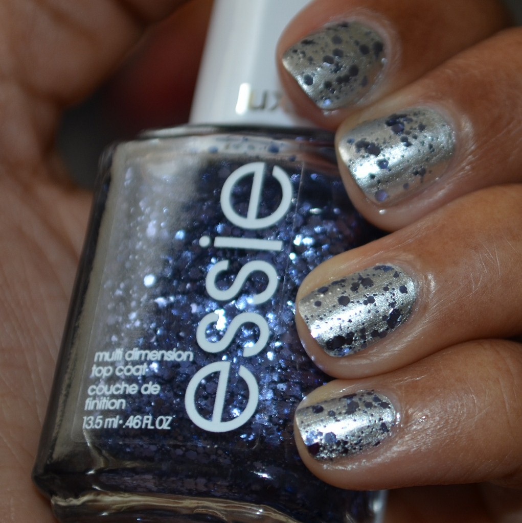 Essie luxeffects - stroke of brilliance over no place like chrome - Inside Shot
