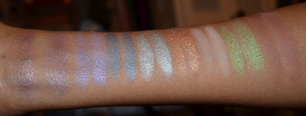 Ofra Pro Eyeshadow Swatches With & Without Primer