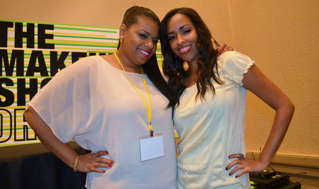 Mina Slater And Tia Dantzler At The Makeup Show Orlando