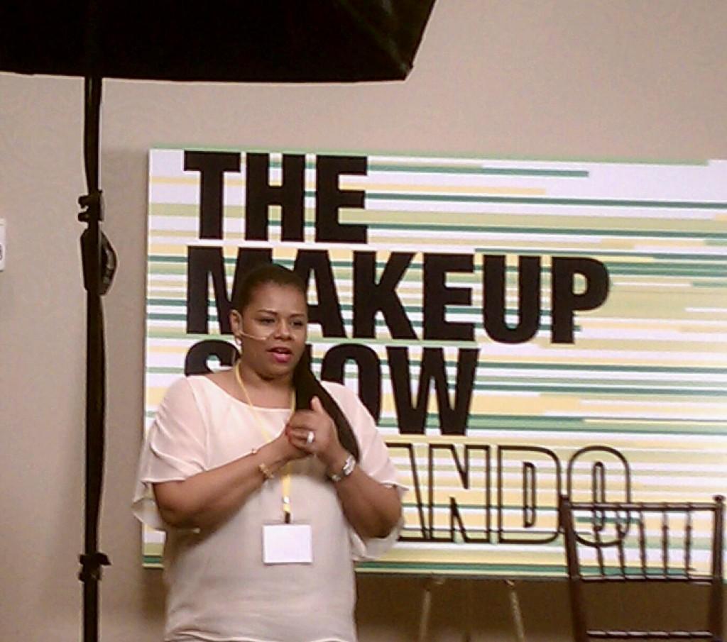 Tia Dantzler At The Makeup Show Orlando