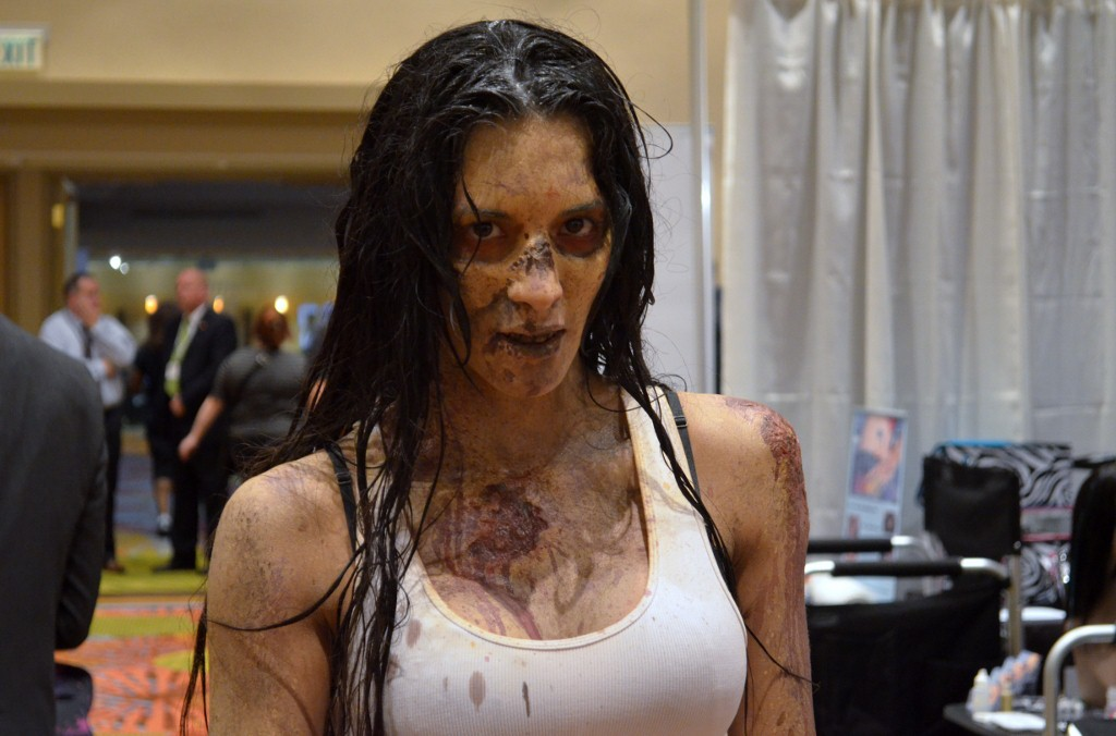 Zombie Makeup by Toby Sells (Walking Dead) At The Makeup Show Orlando