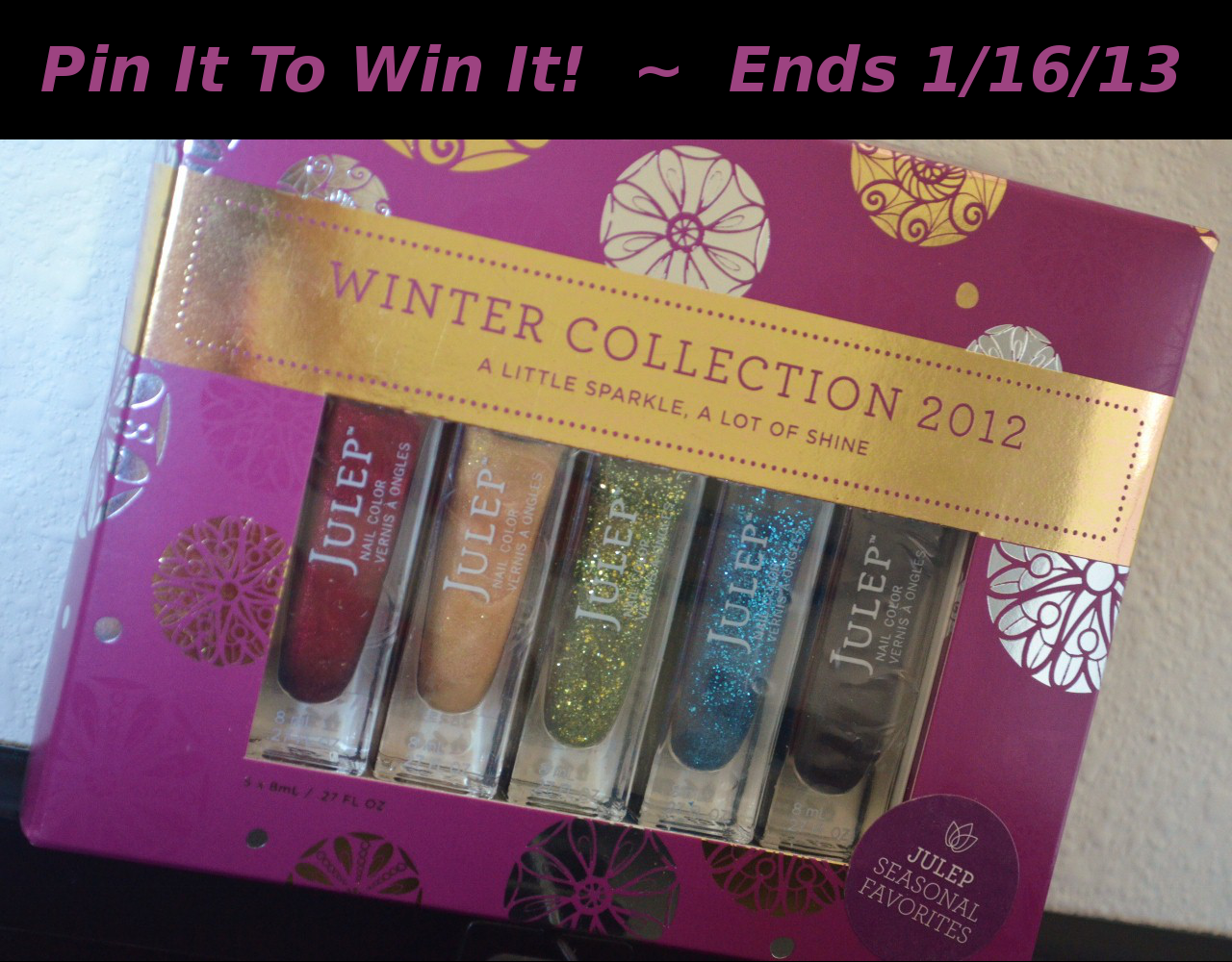Julep Glitter Glow Winter Collection Pinterest Giveaway