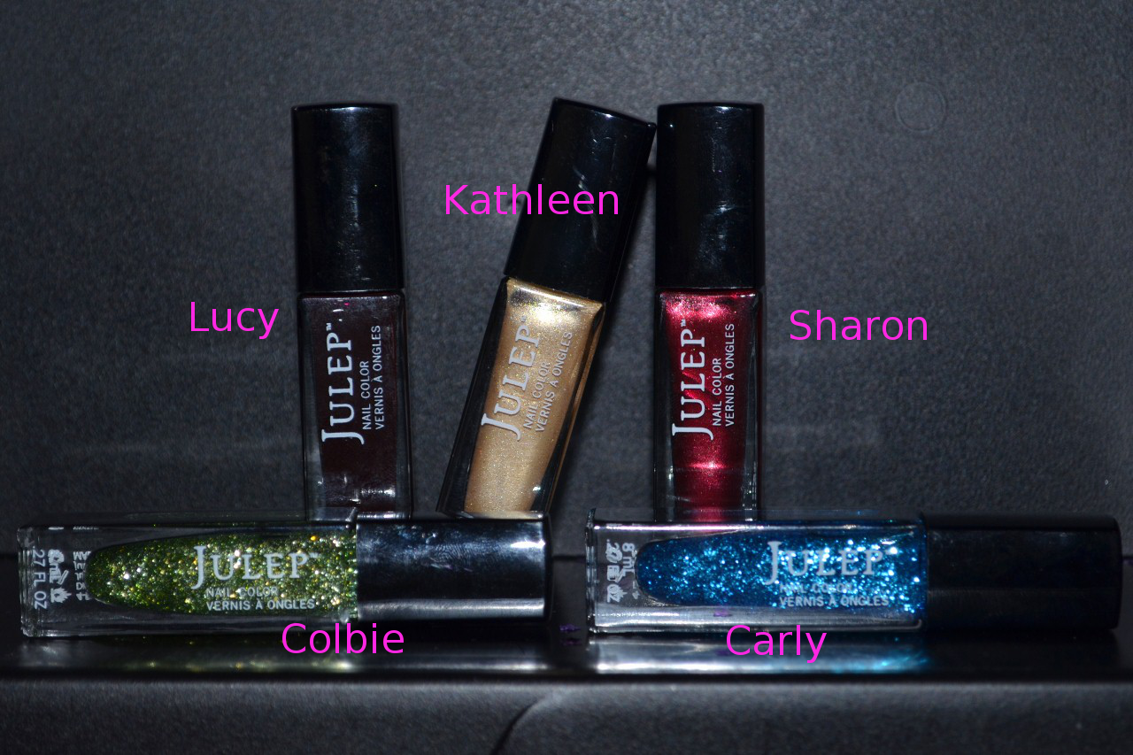 Julep Glitter & Glow Winter Collection 2012 Pinterest Giveaway