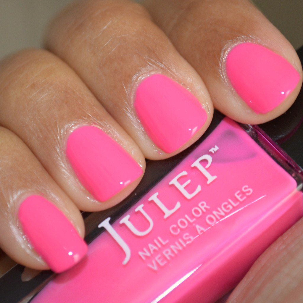 Swatch of Julep Nail Polish Avery, bright pink