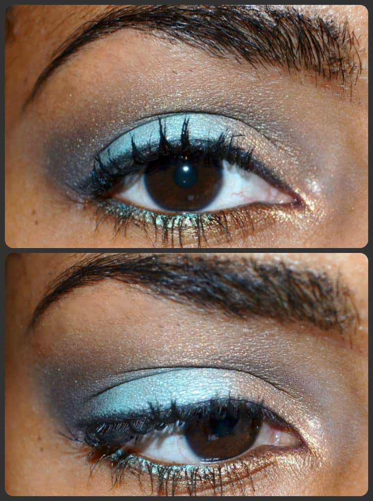 Summer Eye Look: Pop of Color | Teal and gold eyeshadow