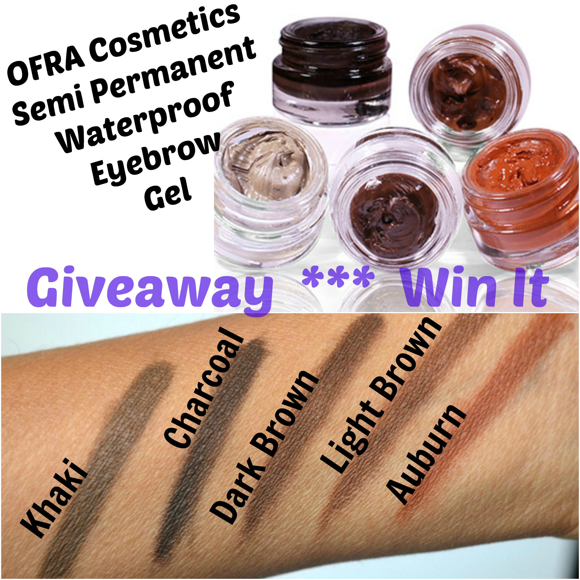 OFRA Cosmetics Semi Permanent Waterproof Eyebrow Gel Giveaway