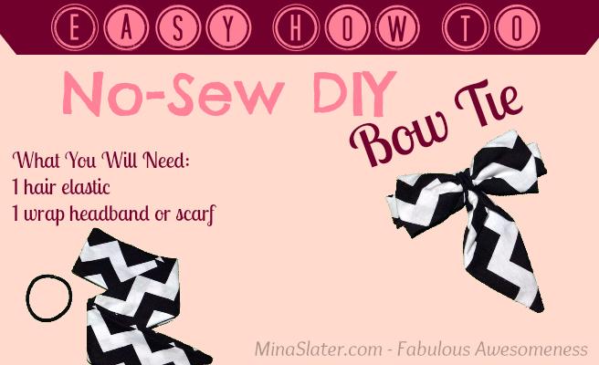 Easy How To - No-Sew DIY Bow Tie via @minaslater