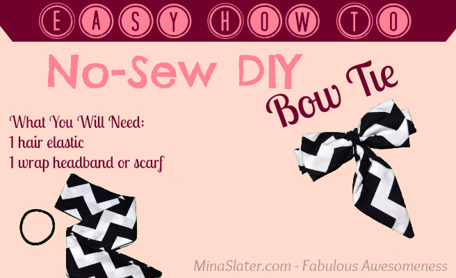 Easy How To - No-Sew DIY Bow Tie via @minaslater