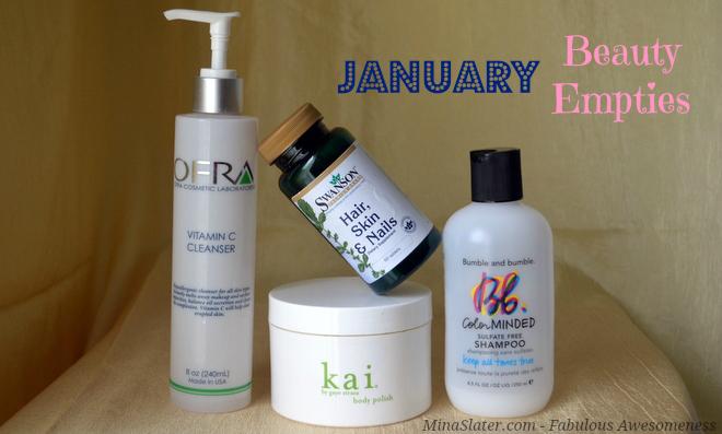 January Beauty Empties