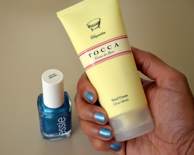 Manicure With Hand Cream and Nail Polish