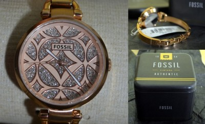 Fossil Watch - Georgia Rose Gold Three-Hand Bangle