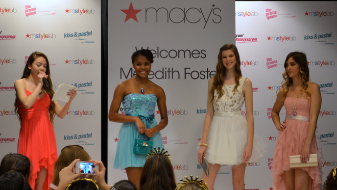Macy's Prom Fashion Show 2014 Hosted by Meredith Foster #MacysProm