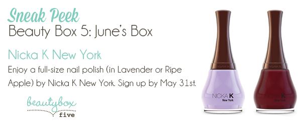 Beauty Box 5 June Sneak Peek