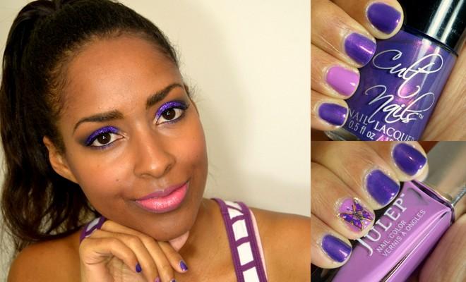 Put On Purple - Lupus Awareness Makeup & Nails #PutOnPurple
