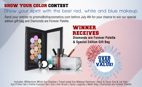 OFRA Cosmetics Show Your Color Contest