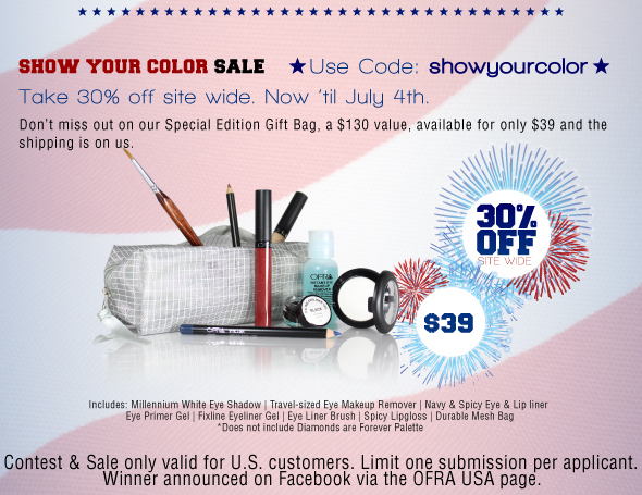 OFRA Cosmetics Show Your Color Sale - Ends July 4th