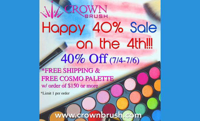 Crown Brush Independence Day Sale - 40% Off July 4th - July 6th