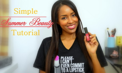 Simple Summer Beauty Tutorial by Mina Slater