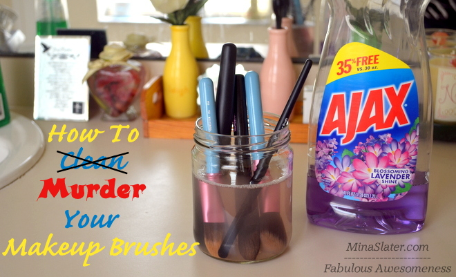 The Wrong Way To Clean Your Makeup Brushes