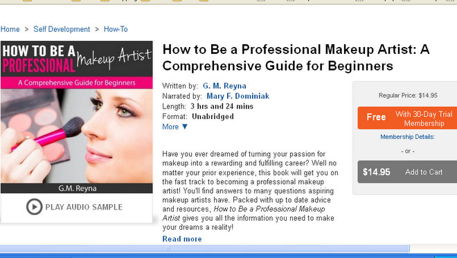 Audible Makeup Books