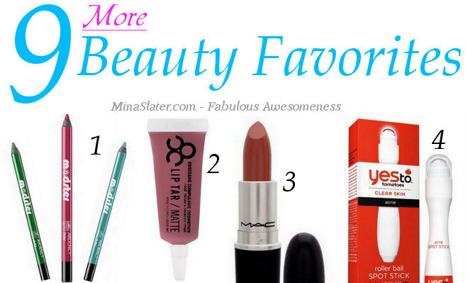 Beauty Obsessions - 9 More Beauty Favorites