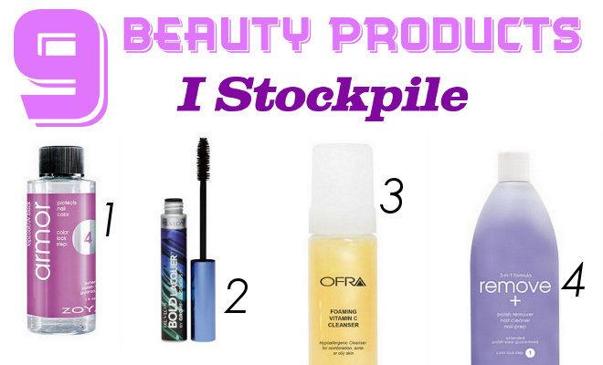 9 Beauty Products I Stockpile