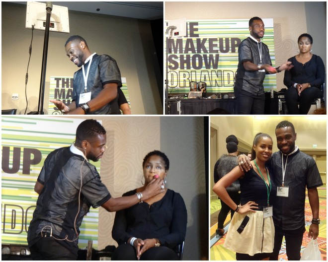 Merrell Hollis at The Makeup Show Orlando 2014