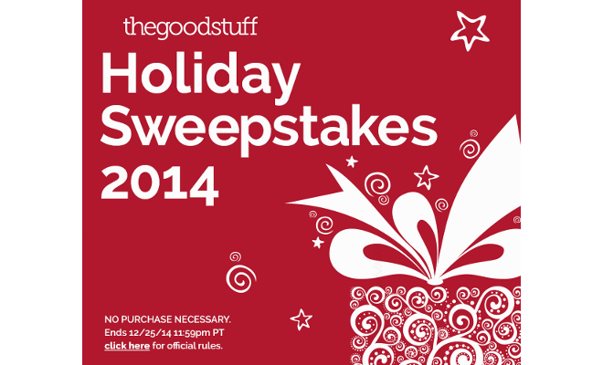 Saving During The Holidays + The Good Stuff Holiday Sweepstakes
