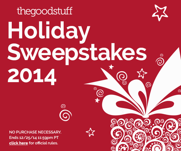 The Good Stuff 2014 Holiday Sweepstakes - Win cash for the holidays