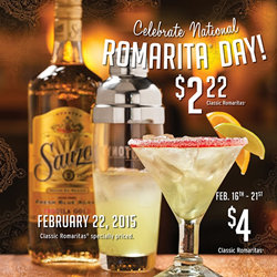 National Margarita Day 2015 - Tony Roma's Orlando