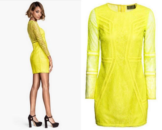 H&M Lace Dress - Yellow