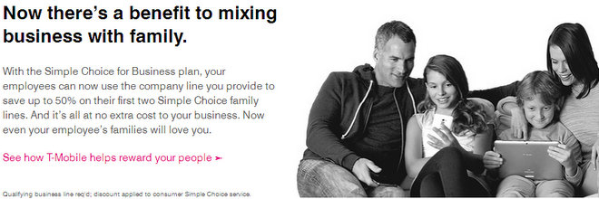 T-Mobile for Business Simple Choice Family Plan