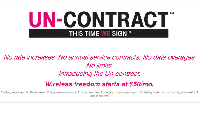 T-Mobile Un-Contract
