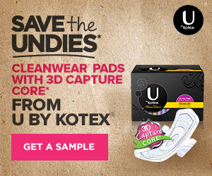 U by Kotex samples