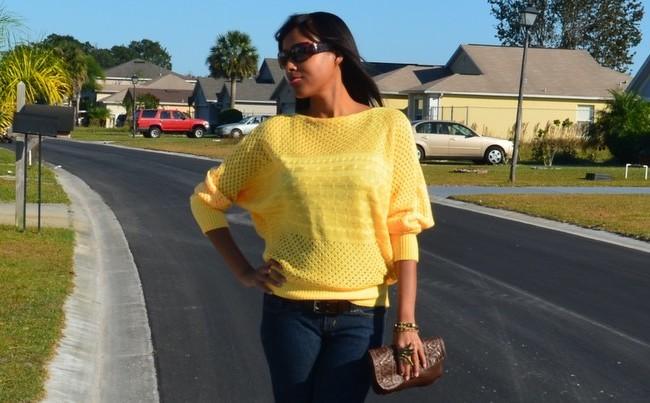 Mina Slater - Mustard Yellow Sweater