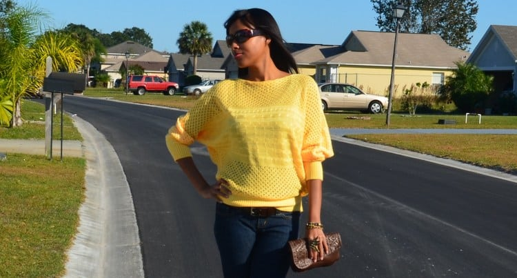 Mina Slater - Mustard Yellow Sweater