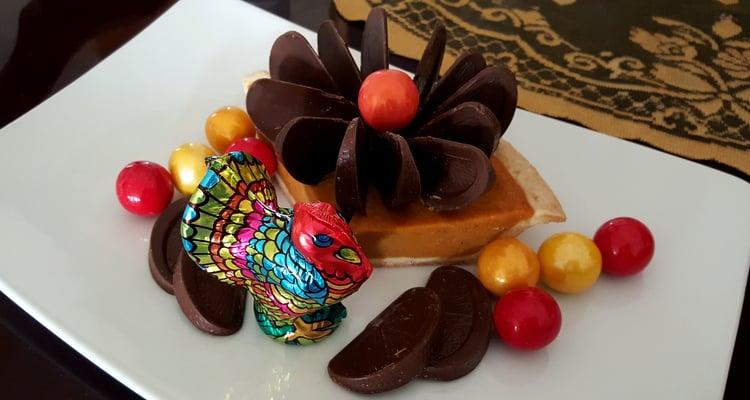 Chocolate Pumpkin Pie Blossom