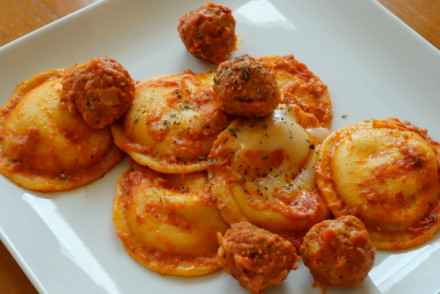 Asiago Meatball Ravioli
