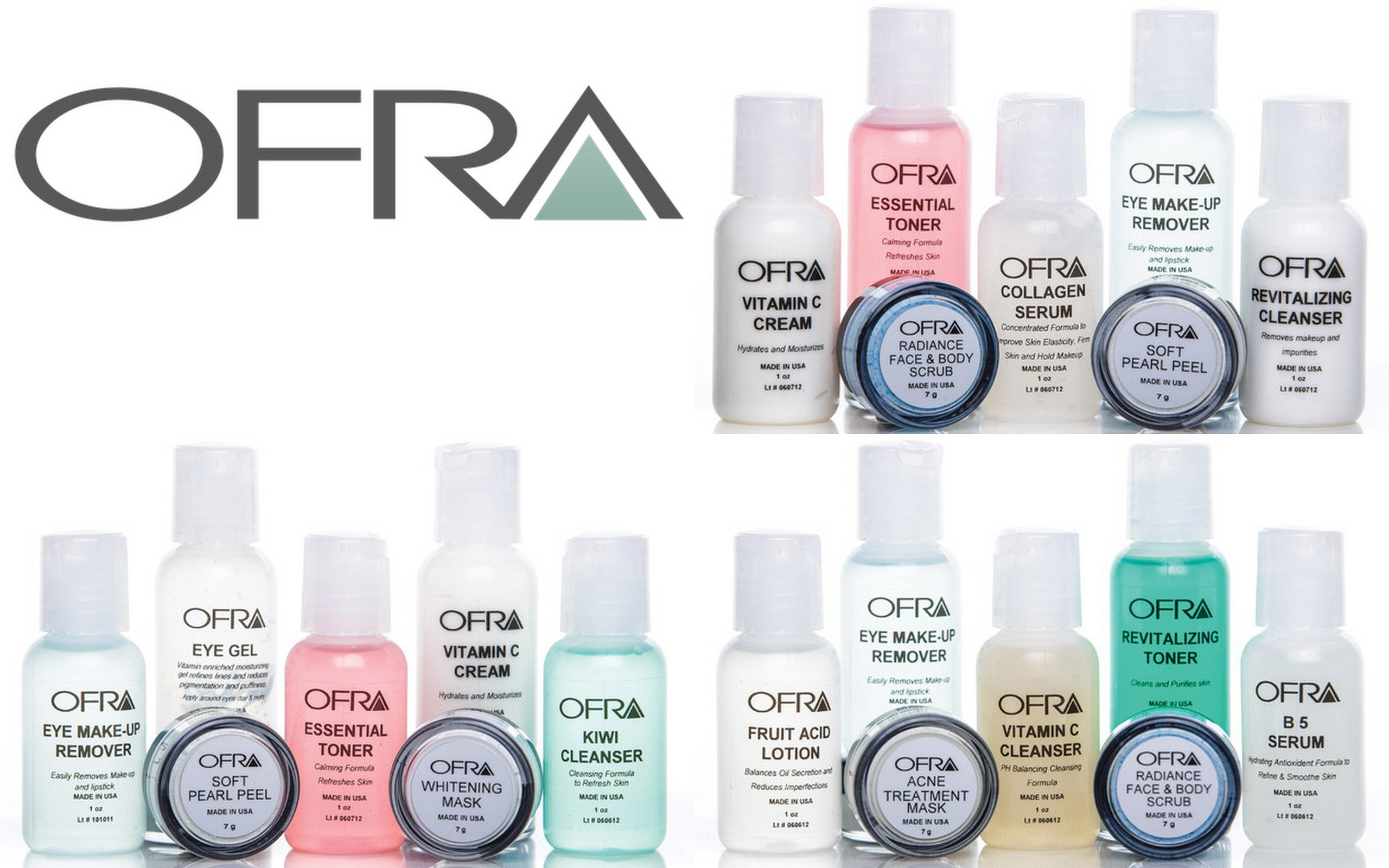 Ofra Cosmetics Skincare Kits - Dry, Normal and Oily