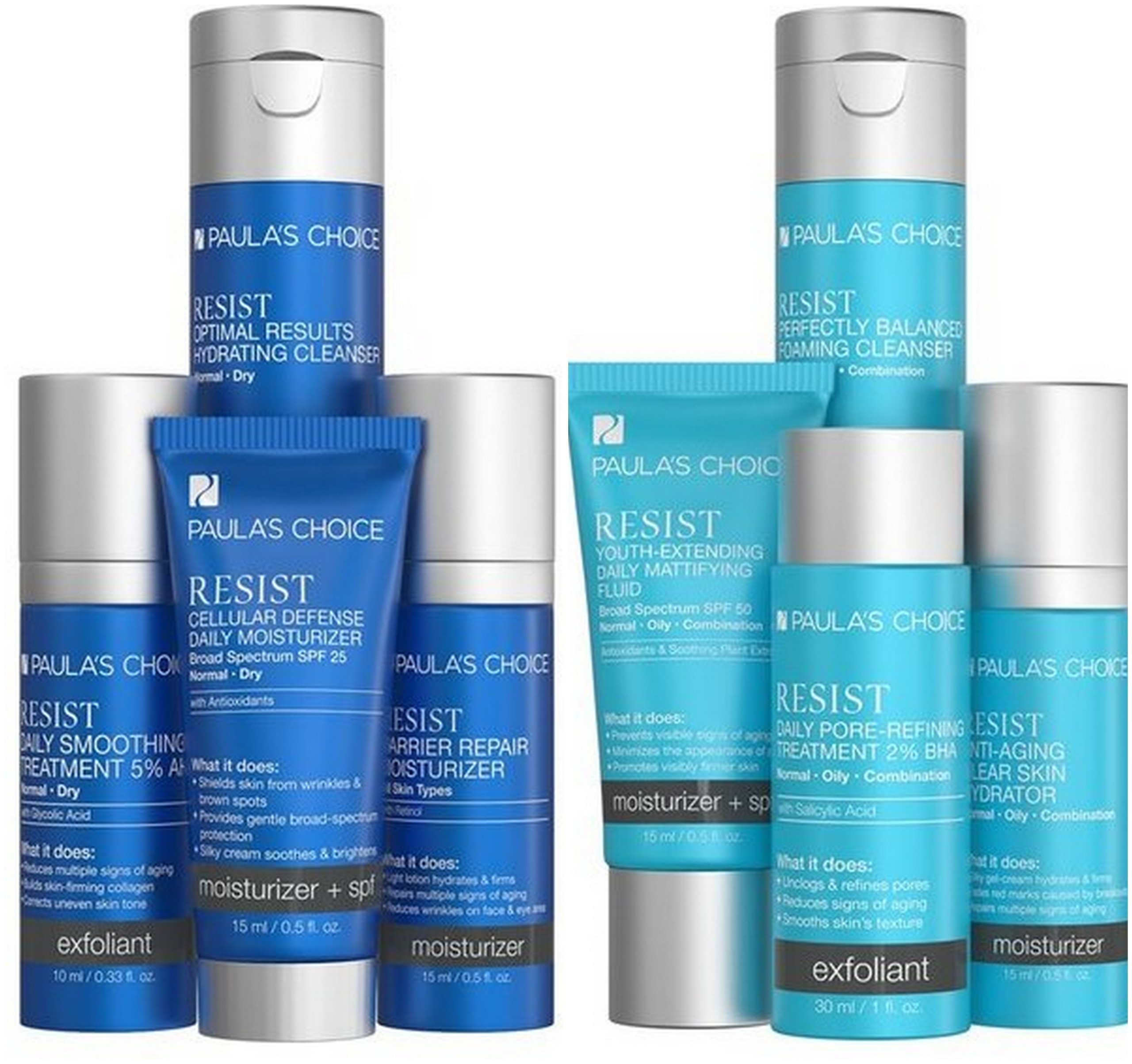 Paula's Choice Skincare RESIST Normal To Dry and Normal To Oily Trial Kits