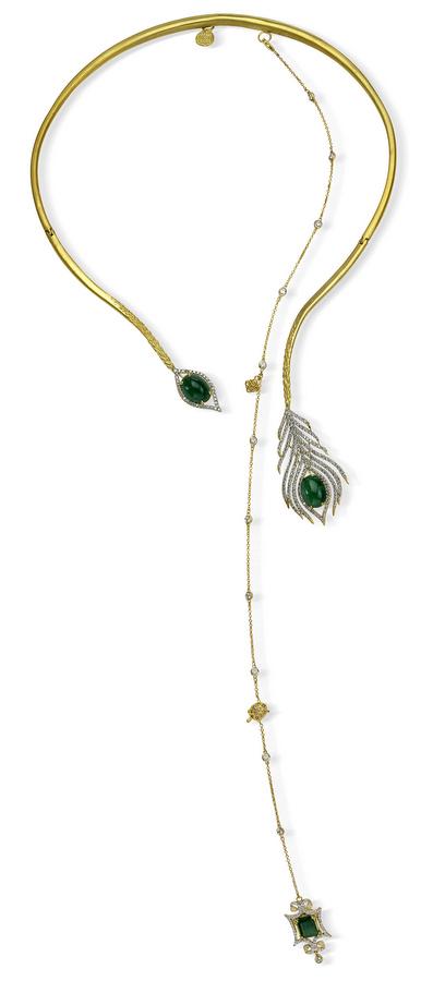 Tanya Farah Peacock Necklace