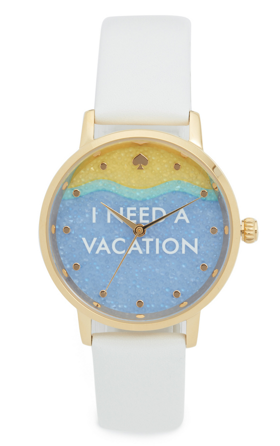 Kate Spade New York I Need A Vacation Metro Watch